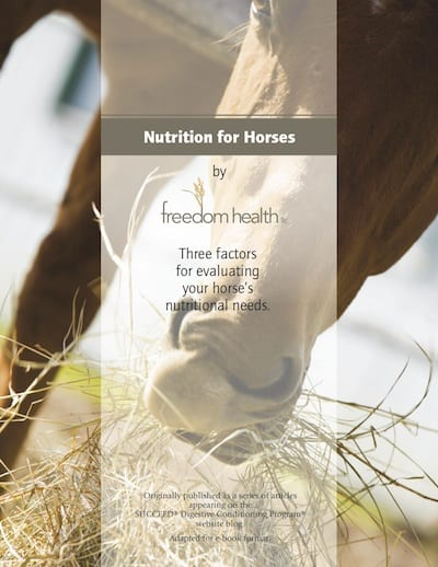 Get Your Free Nutrition for Horses E-Book