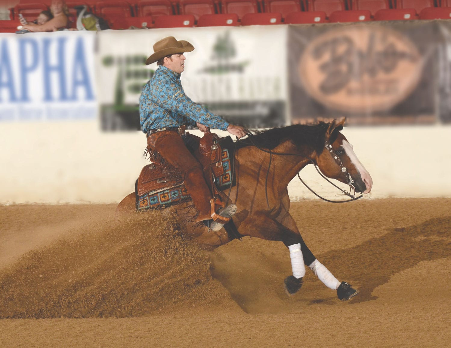 Jordan Larson Proactively Supports Reining Horses With