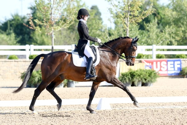 Young Dressage Rider Lillian Simons Moves Up with SUCCEED