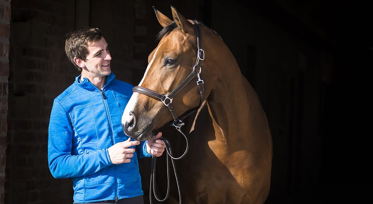 Jamie Gornall and his horse Charlotte